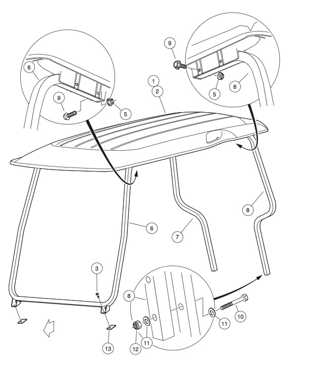 canopy golfcartpartsdirect. Black Bedroom Furniture Sets. Home Design Ideas