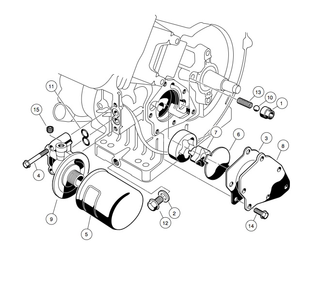 ENGINE - FE290 ENGINE � OIL CIRCULATION