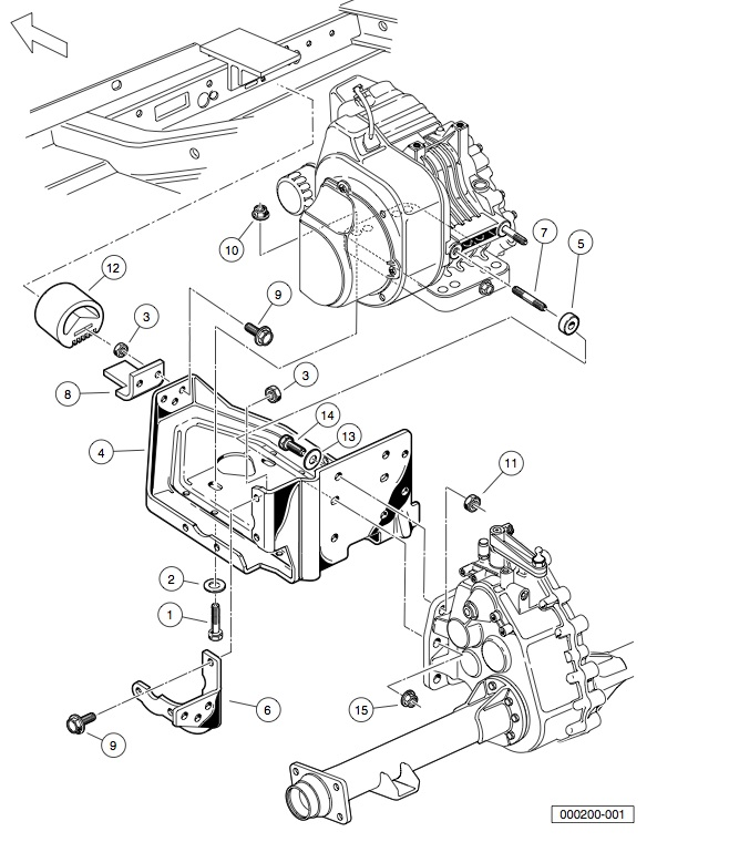 engine - fe290 engine mounting