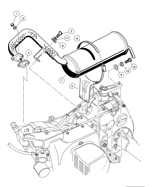 EXHAUST SYSTEM – FE290 ENGINE
