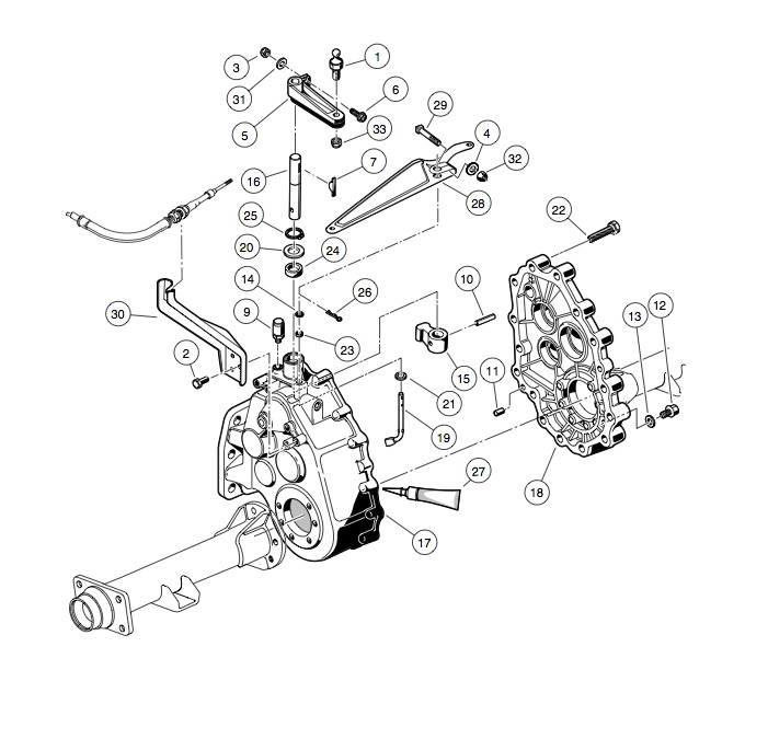 Unitized Transaxle Gear Cases And Brackets Club Car
