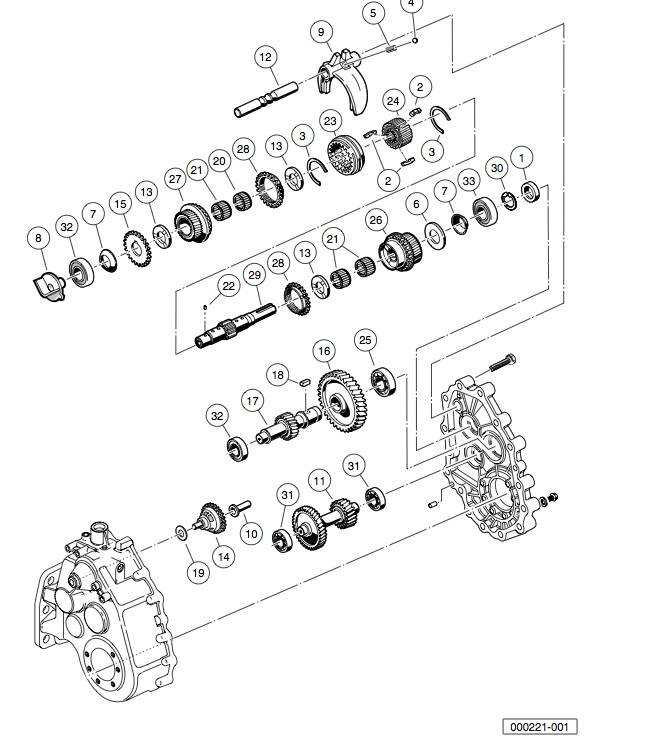 UNITIZED TRANSAXLE - TRANSMISSION AND GEAR REDUCTION
