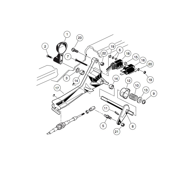 forward  reverse shifter assembly - gas vehicle