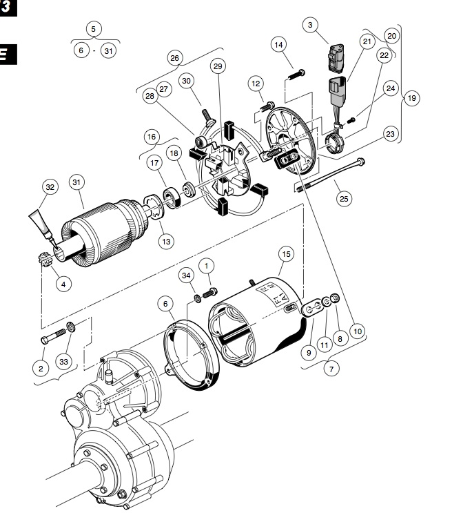 MOTOR (MODEL 5BC59JBS6365) – ELECTRIC VEHICLE
