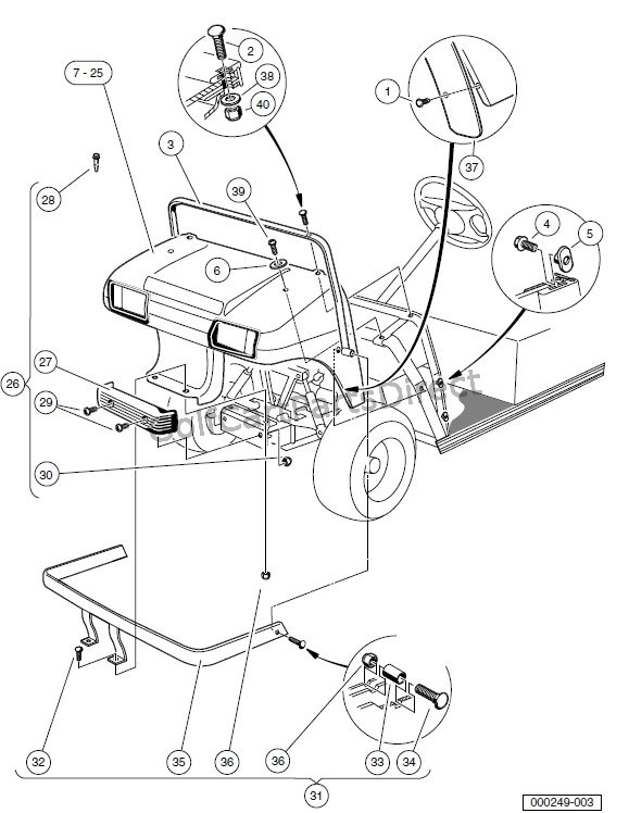 carry all club car ke parts diagram  carry  free engine