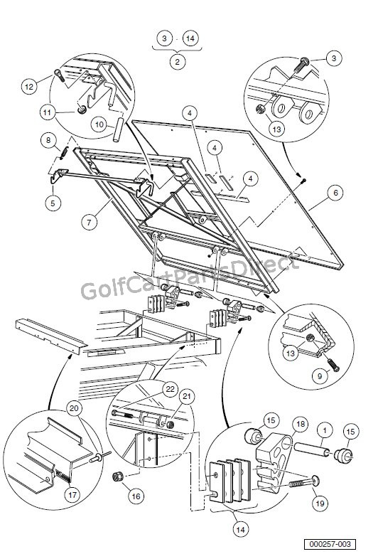 Tilit Bed Hinge And Latch Turf Carryall 2 252 2 Xrt