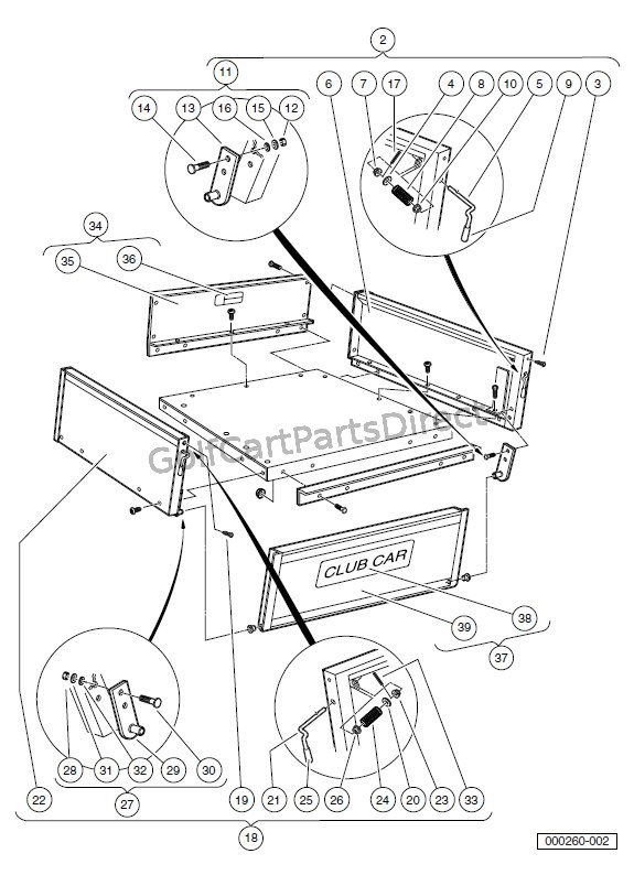Club Car Carryall 500 Gas Wiring Diagram Little Light