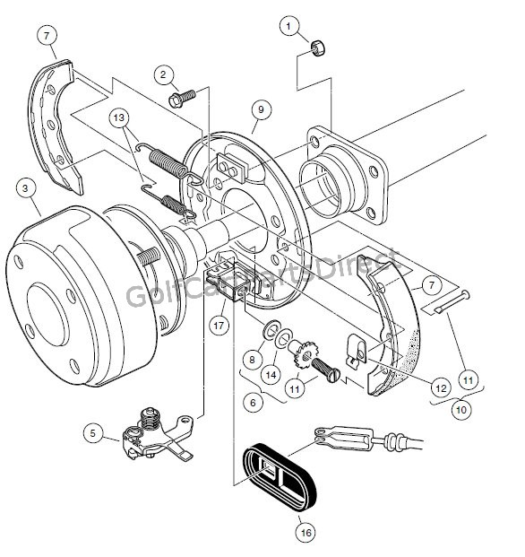 BRAKES � REAR BRAKE ASSEMBLY, SELF-ADJUSTING � TURF/CARRYALL 1