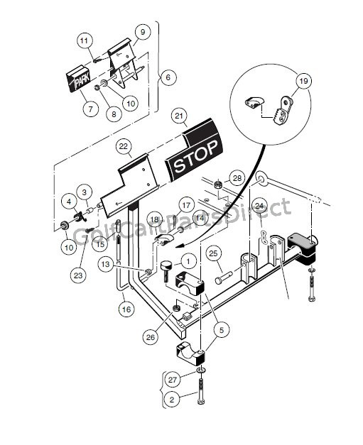 BRAKE PEDAL ASSEMBLY – VEHICLES WITH TWO – WHEEL BRAKES