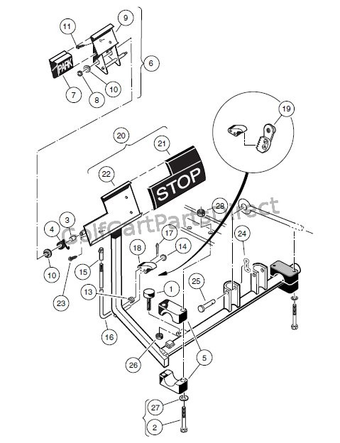 brake pedal assembly  u2013 vehicles with four