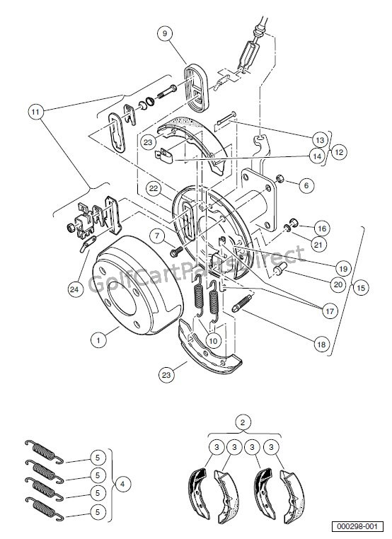 BRAKES – FRONT BRAKE ASSEMBLY – VEHICLES WITH FOUR-WHEEL BRAKES