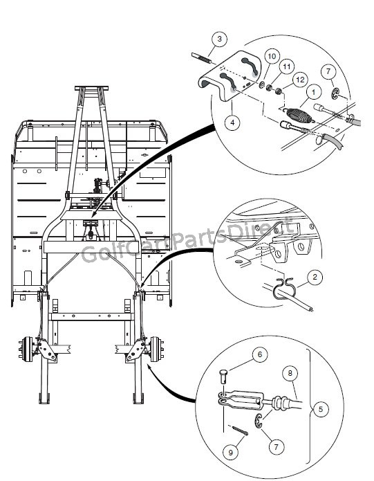 BRAKE CABLE, EQUALIZER, AND EQUALIZER ROD � VEHICLES WITH TWO-WHEEL BRAKES