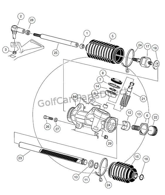 steering gear assembly golfcartpartsdirect. Black Bedroom Furniture Sets. Home Design Ideas