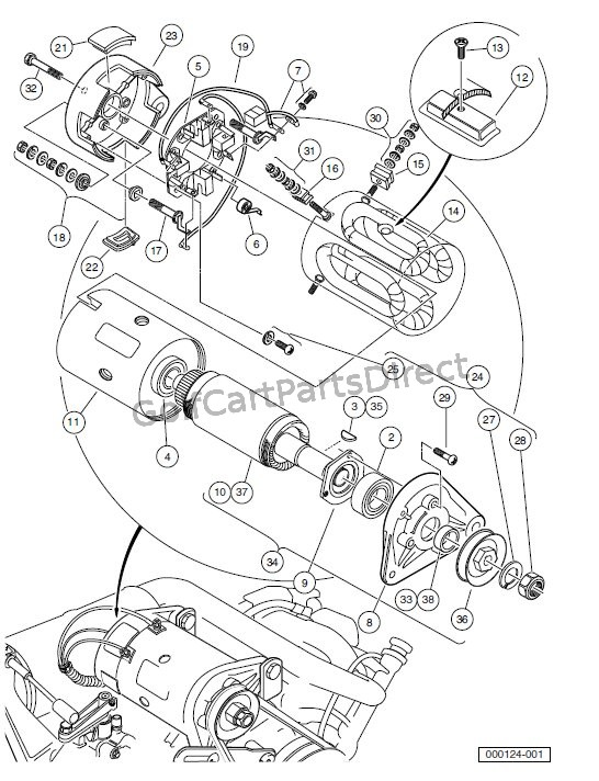 STARTER/GENERATOR ASSEMBLY MODEL G425419 � GASOLINE VEHICLES