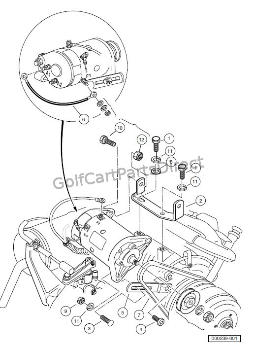 starter  generator mounting turf  carryall 2 252 2xrt 6Club Car Golf Cart Battery Diagram