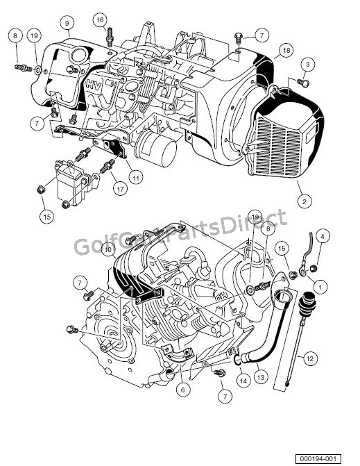 engine - fe290 engine -shrouds and brackets
