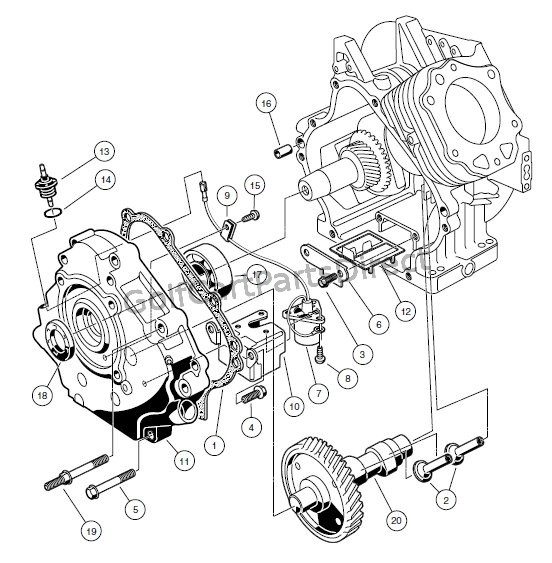 ENGINE - FE290 � CRANKCASE, CAMSHAFT, AND OIL SENSOR