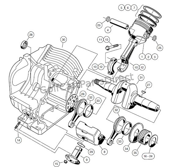 ENGINE - FE290 ENGINE � CRANKCASE AND CRANKSHAFT