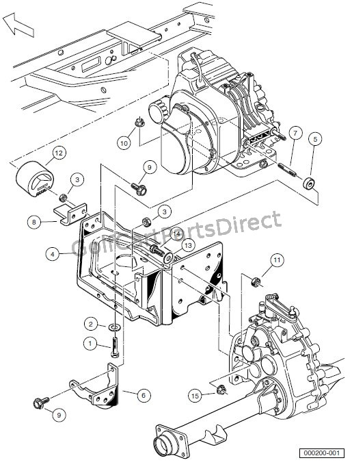 ENGINE - FE290 ENGINE MOUNTING – TURF/CARRYALL 1