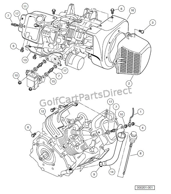 ENGINE - FE2350 ENGINE WITH ACR(AUTOMATIC COMPRESSION RELEASE) � SHROUDS AND BRACKETS