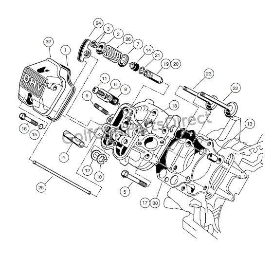 ENGINE - AS11 FE350 ENGINE – CYLINDER HEAD
