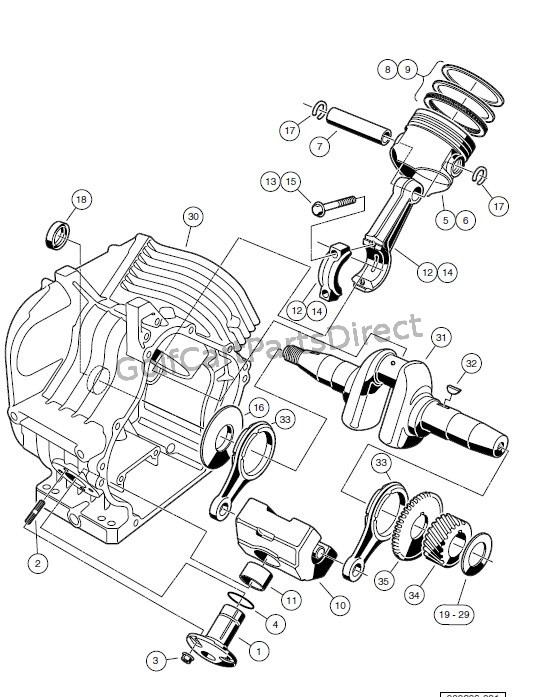 ENGINE - AS11 FE350 ENGINE � CRANKCASE AND CRANKSHAFT