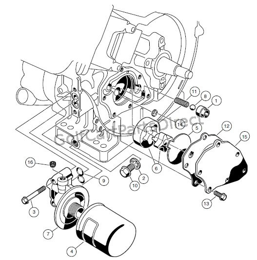 engine fe350 engine circulation club car parts accessories