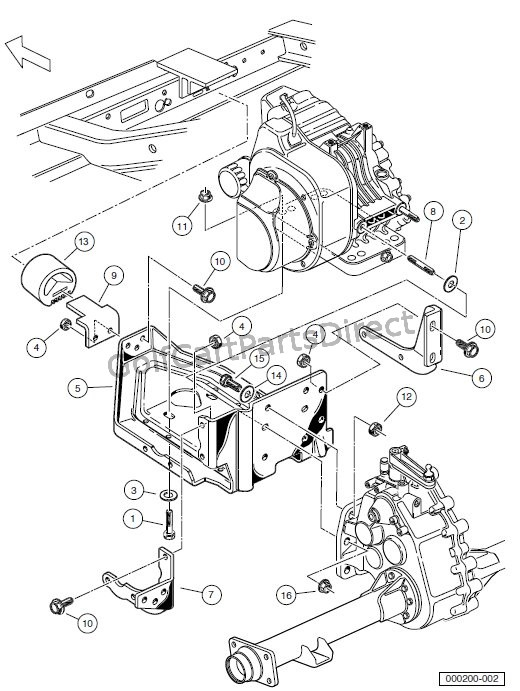ENGINE - ENGINE MOUNTING � TURF/CARRYALL 252 AND 2 XRT