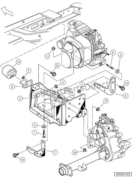 ENGINE - FE350 ENGINE MOUNTING