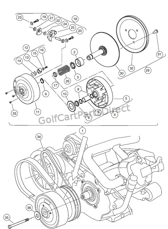 DRIVE CLUTCH � CARRYALL 2 PLUS, AND TURF/CARRYALL 6