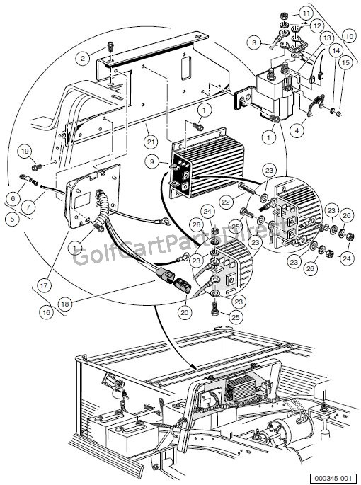 1996 ford louisville and aeromax foldout wiring diagram original