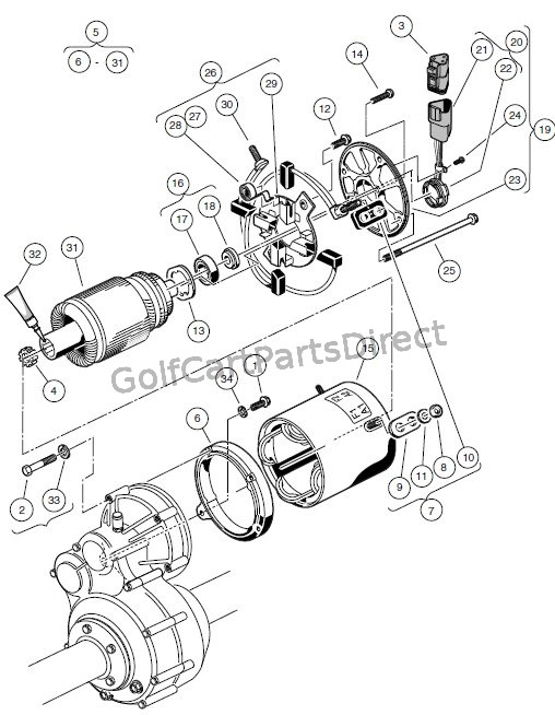 MOTOR (MODEL 5BC59JBS6365) � ELECTRIC VEHICLE