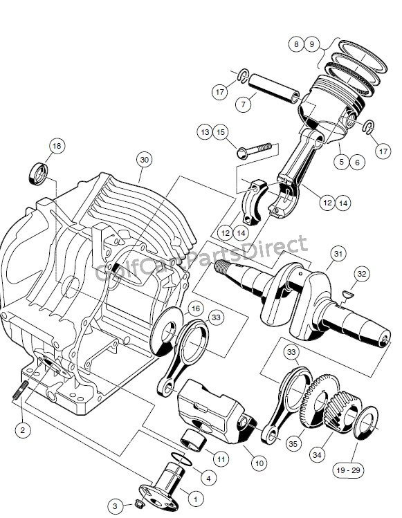 Image Result For Golf Cart Gas Engine Conversion Kit