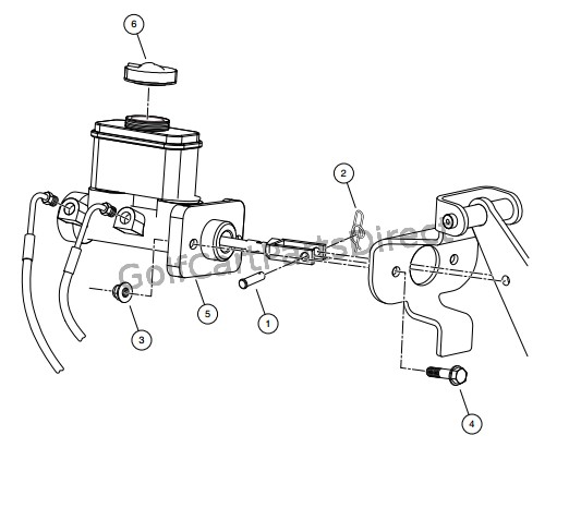 MASTER CYLINDER WITH INTEGRAL RESERVOIR