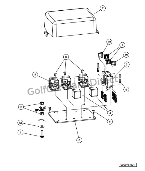ELECTRICAL COMPONENT BOX, GASOLINE VEHICLES