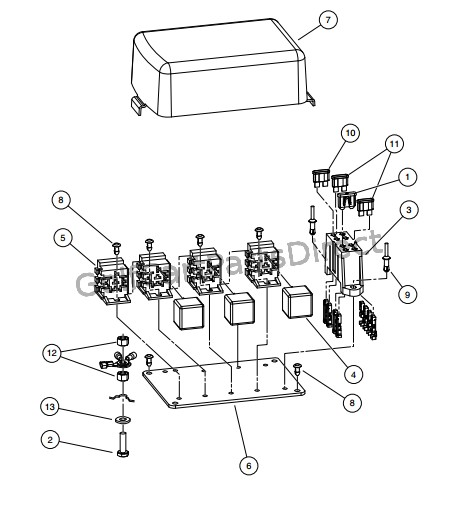 ELECTRICAL COMPONENT BOX, DIESEL VEHICLES