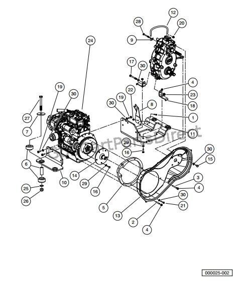 kubota d722 diesel engine mounting
