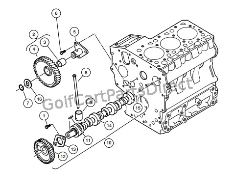 CAMSHAFT AND IDLE GEAR