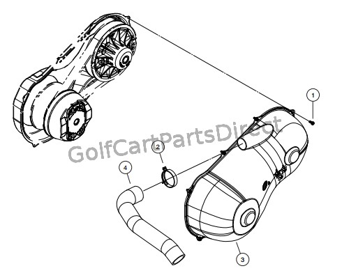 Yamaha Golf Cart Drive Clutch Cover Kit Manual Guide