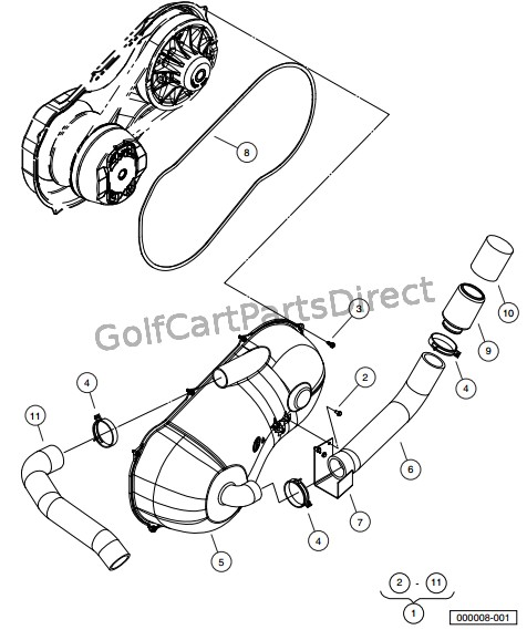 club car golf cart wiring diagram for 1996 2008 club car xrt 1550 or carryall 295 - golfcartpartsdirect 2009 club car xrt 1550 wiring diagram