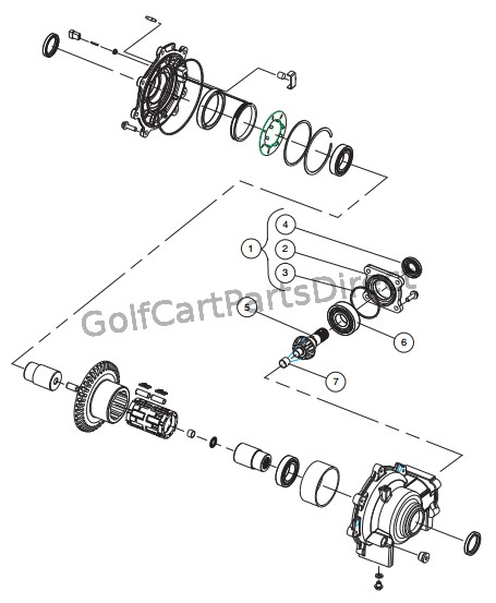 front differential  input components
