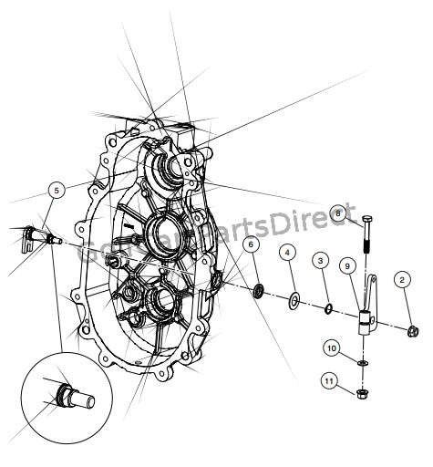 TRANSMISSION SHIFT SHAFT AND BELL CRANKTRANSMISSION SHIFT SHAFT AND BELL CRANK (STYLE A)