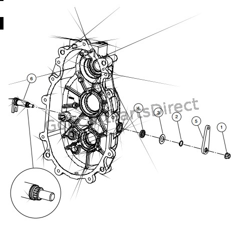 TRANSMISSION � DIESEL VEHICLES, SHIFT SHAFT AND BELL CRANK (STYLE B)