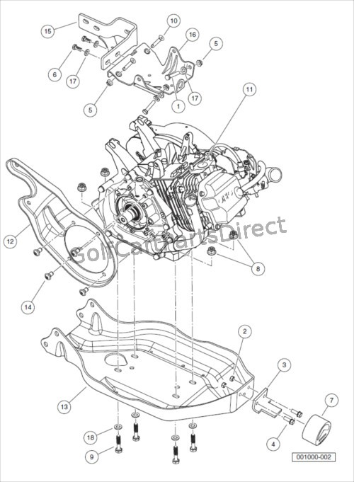 ENGINE AND ENGINE MOUNTING, UTILITY-EX40