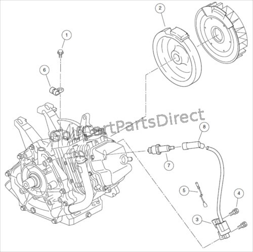 IGNITION COMPONENTS AND FLYWHEEL-SUBARU EX40