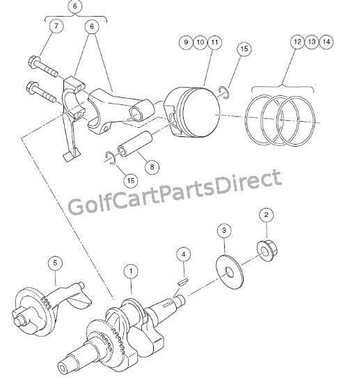 SUBARU EX40 CRANKSHAFT AND PISTON