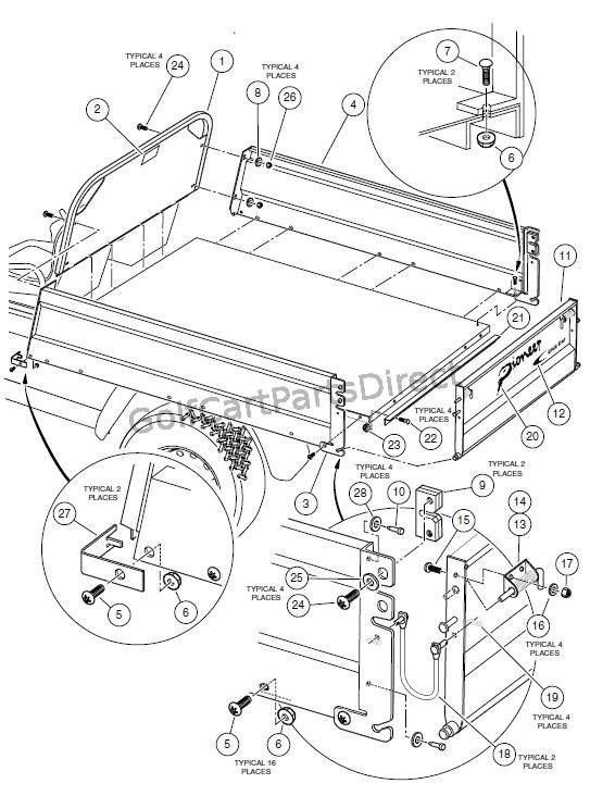 on club car front suspension parts diagram