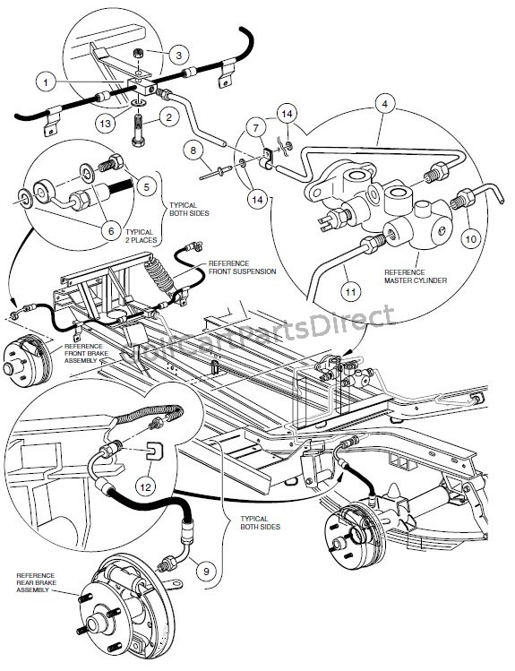 BRAKE SYSTEM, HYDRAULIC  - PIONEER 1200 VEHICLES