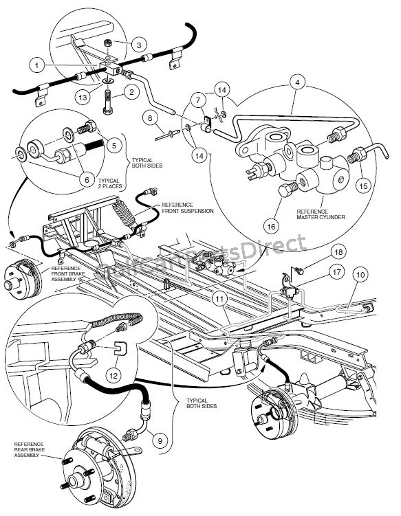 BRAKE SYSTEM, HYDRAULIC  - PIONEER 1200 SE VEHICLES