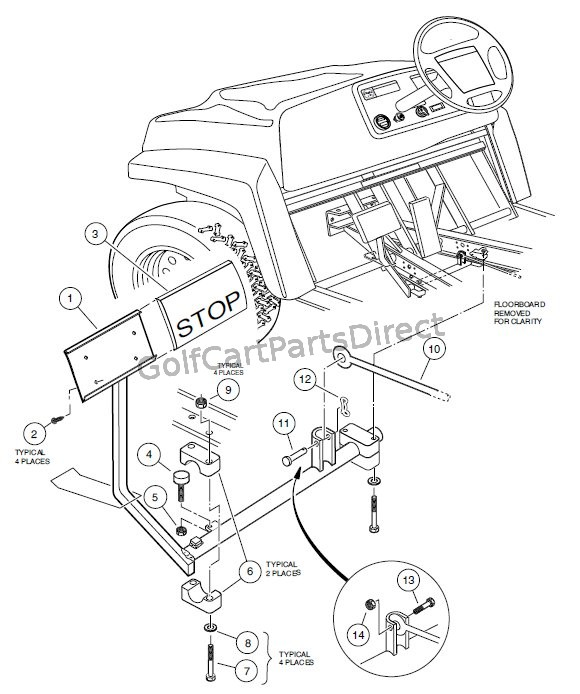 BRAKE PEDAL ASSEMBLY - GolfCartPartsDirect